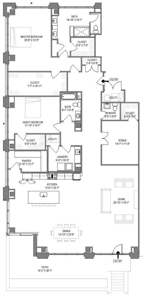 The Harrison Floor Plan