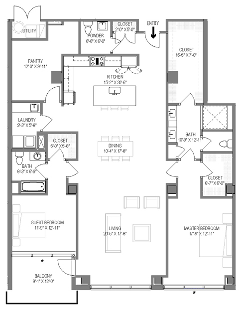 The Morris Floor Plan